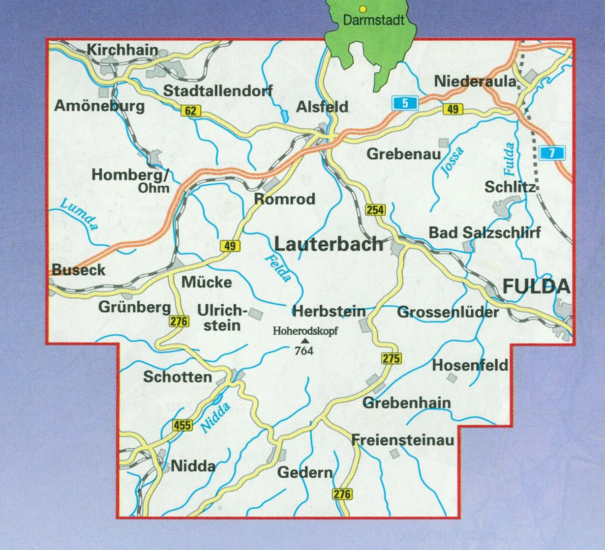 Vogelsberg Karte